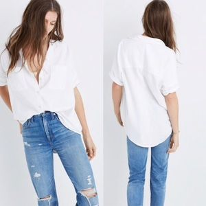 Madewell central shirt in white Sz L large